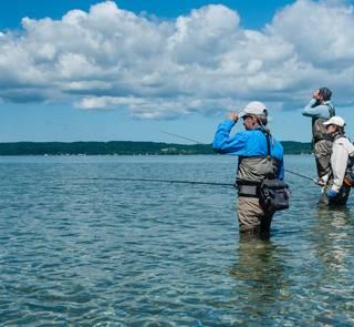 grand traverse bay - fly fishing - carp - lake michigan
