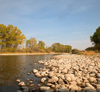 north platte river wyoming in low water