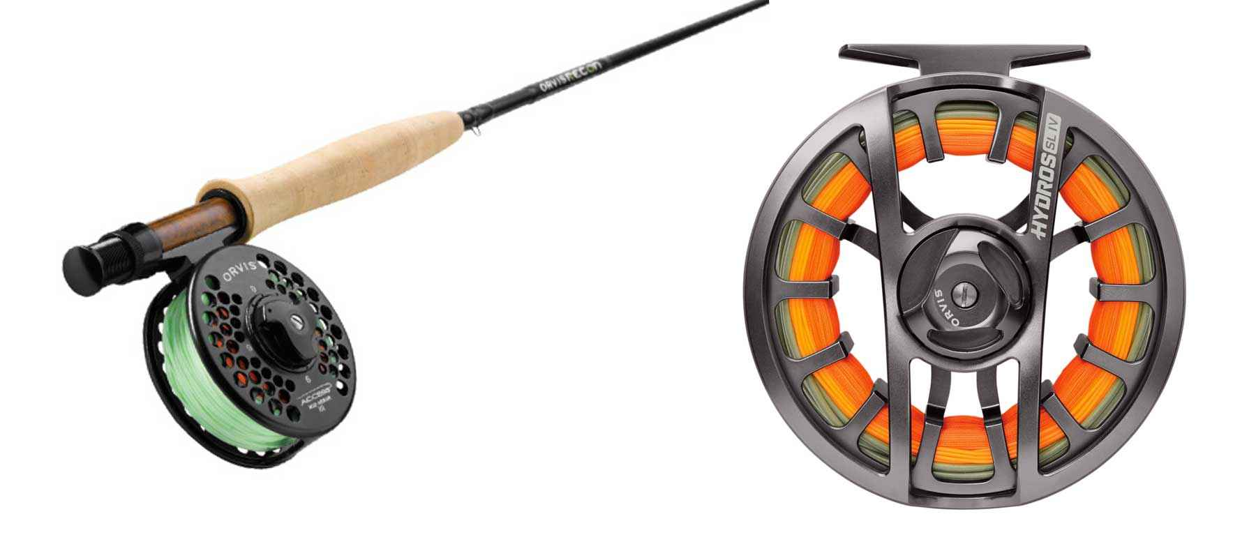 The Orvis Recon fly rod and Hydros SL reel.