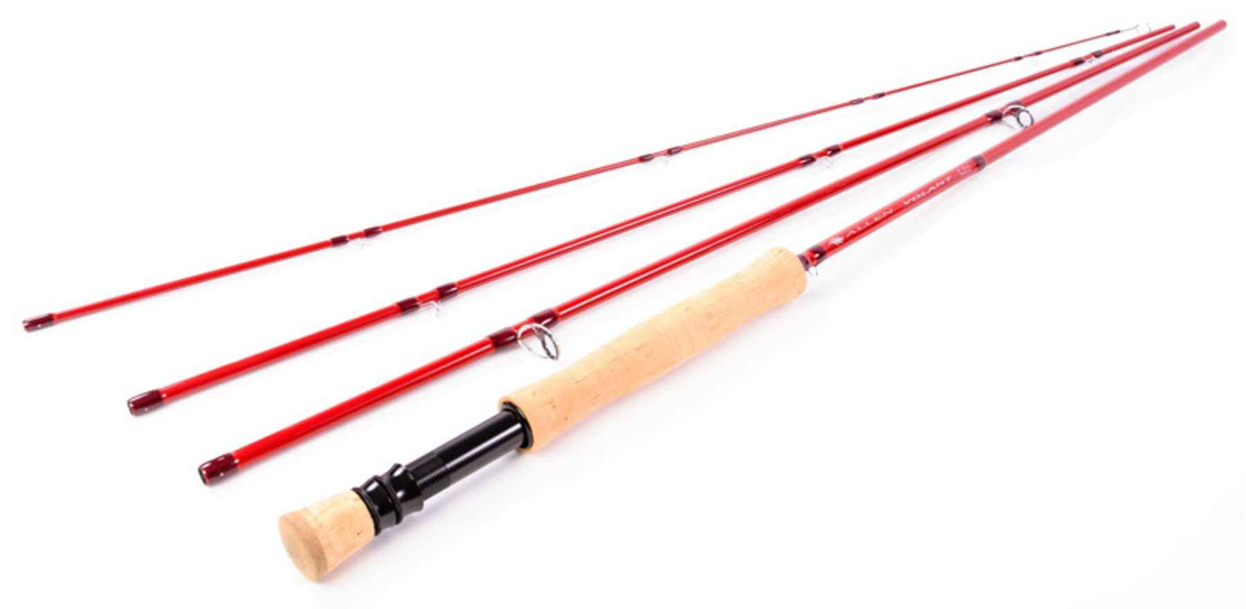 Allen debuts new boldly styled volant rod series hatch for Red fishing rod