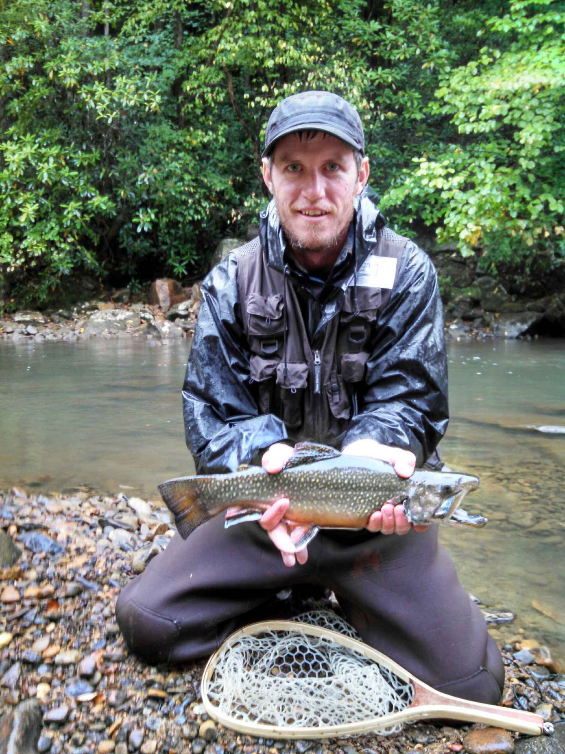 First brook trout ever caught hatch magazine fly for Trout fishing in ohio