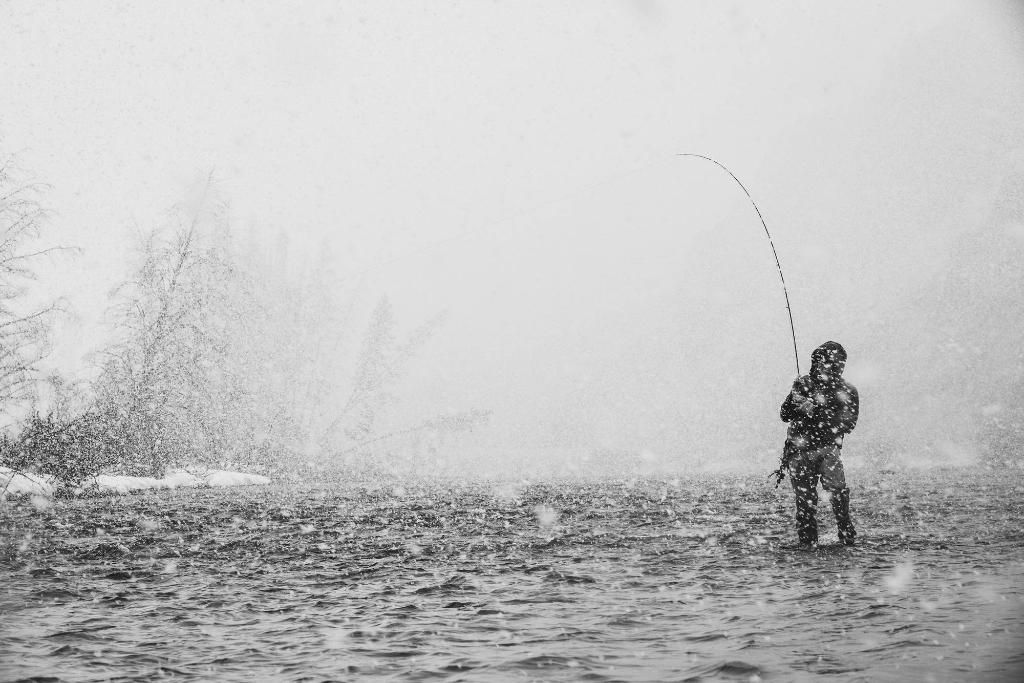 When fly fishing gives you a perfect, snowy scene like this one, you owe it to the rest of it to capture it—but doing so is no easy task. With this shot, photographer Ray Gadd makes it look easy.