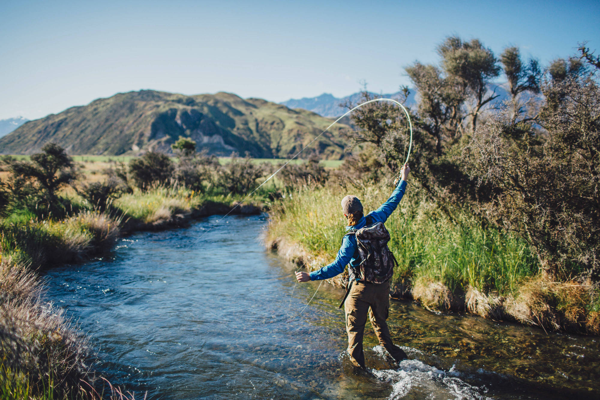 Good action capture? Check. Painfully pretty little New Zealand creek? Check. Beautiful colors. Yep. Another box-ticker. Photo: Jeremiah Clark.