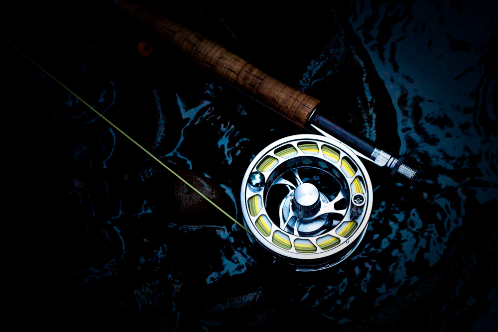 An obligatory fly reel shot.
