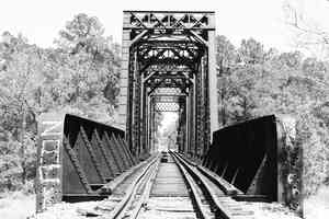 sabine river railroad truss bridge