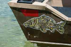 carp sticker drift boat