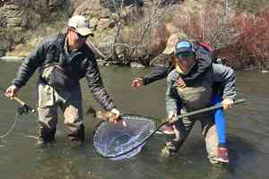 Women fly fishing - moms on the water
