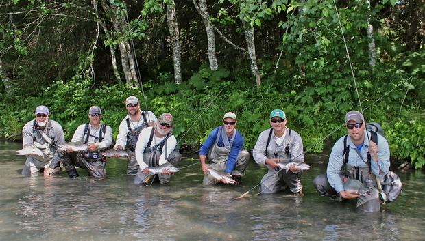 Seven Pink Salmon