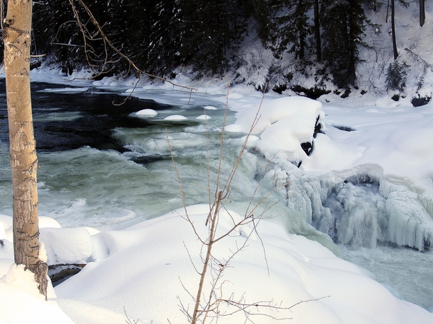 Icy River Winter