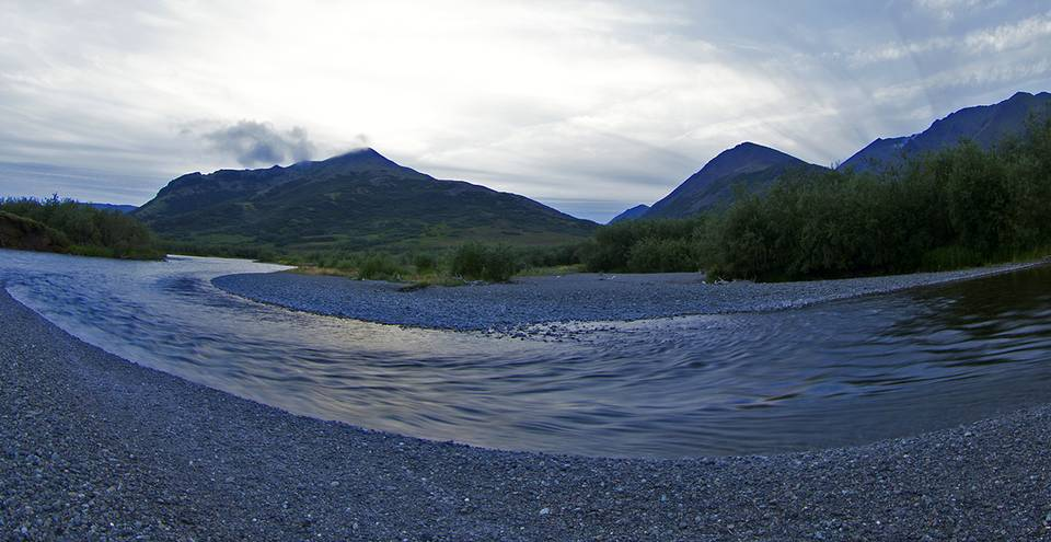 Kanektok River Flowing
