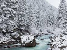 winter stream in montana