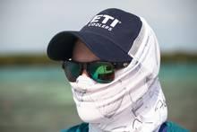 face mask wearing angler