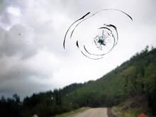 cracked windshield alaska highway