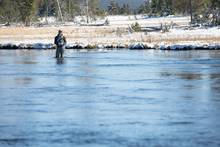 winter fly fishing | firehole river | yellowstone national park