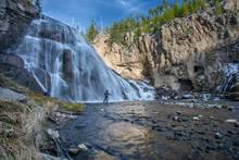 gibbon falls, yellowstone national park, fly fishing