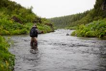 fly fisherman iceland