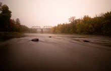 autumn morning on northern wisconsin's Chippewa river
