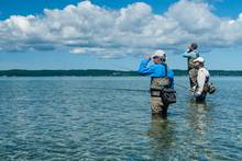 grand traverse bay - fly fishing - carp - lake michigan