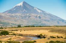 Lanin Volcano - Malleo River - Patagonia, Argentina