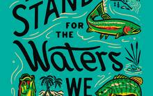 patagonia we stand for the waters we stand in poster