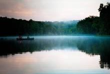 summer evening on the bass pond