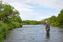 fly fishing savan river Kamchatka
