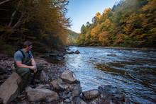 Pennsylvania's Lehigh River in Autumn