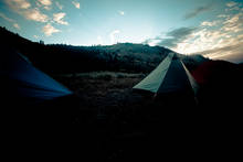 Tents in Yellowstone Park's Black Canyon