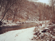 Snowy Winter Stream - Fly Fishing