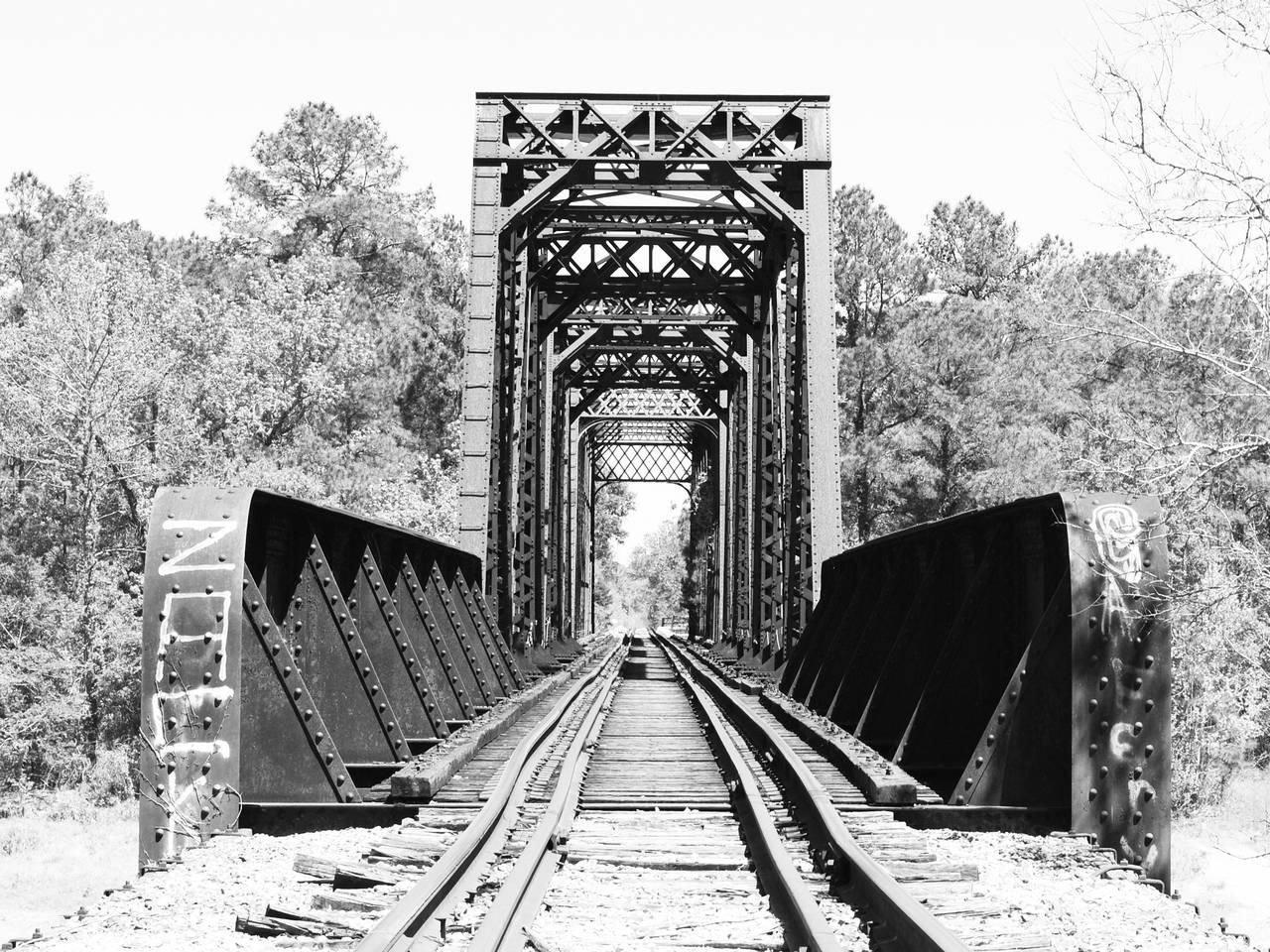 sabine river railroad truss bridge