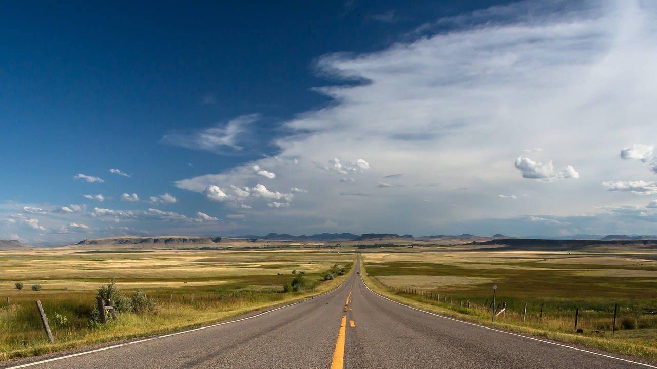 montana country road