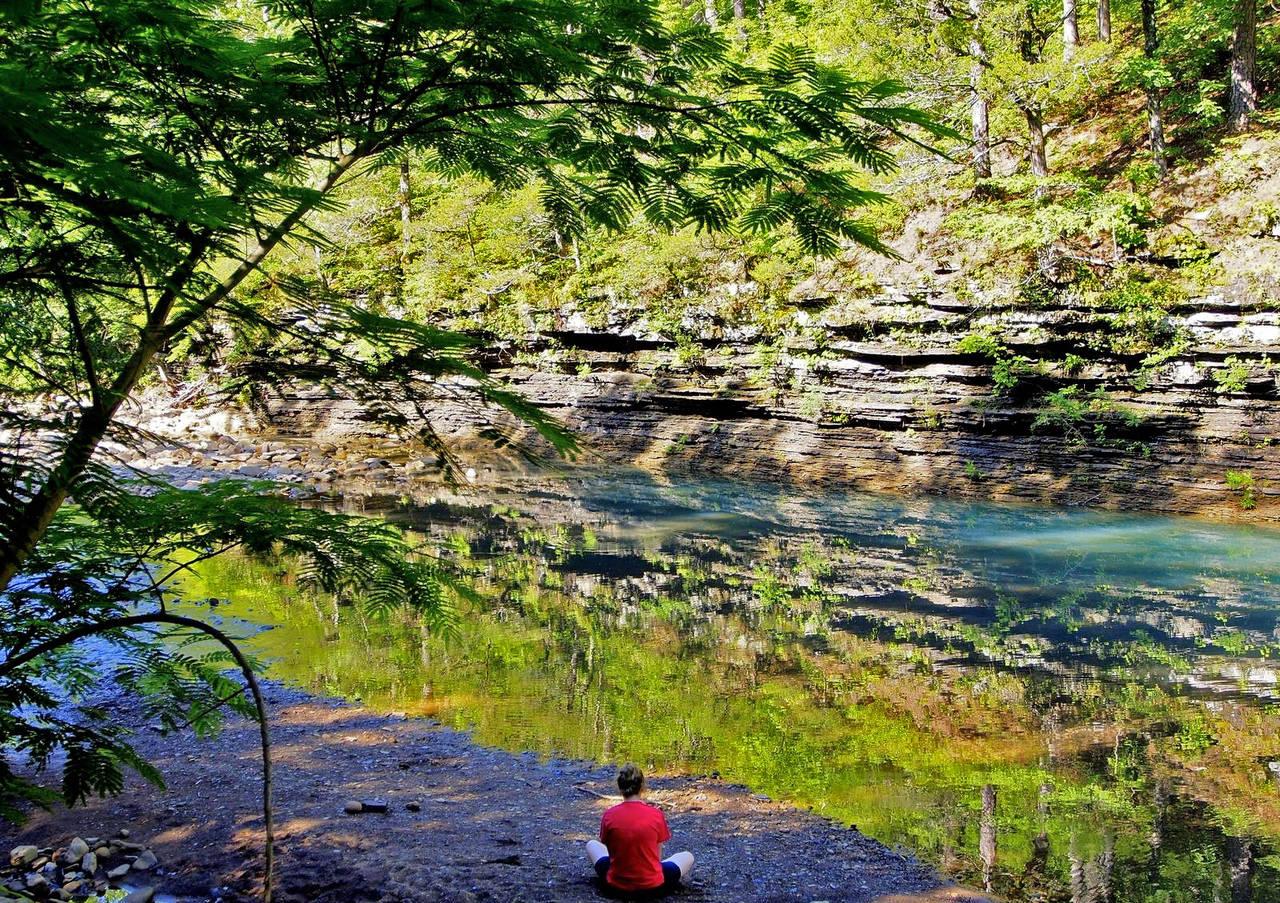 Ozark mountain stream
