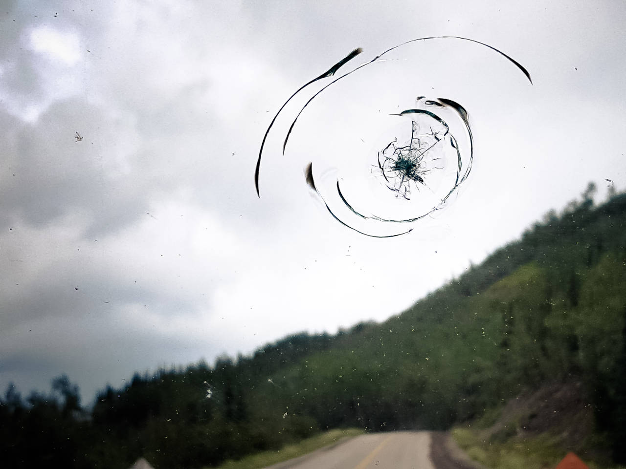cracked windshield alaska highway
