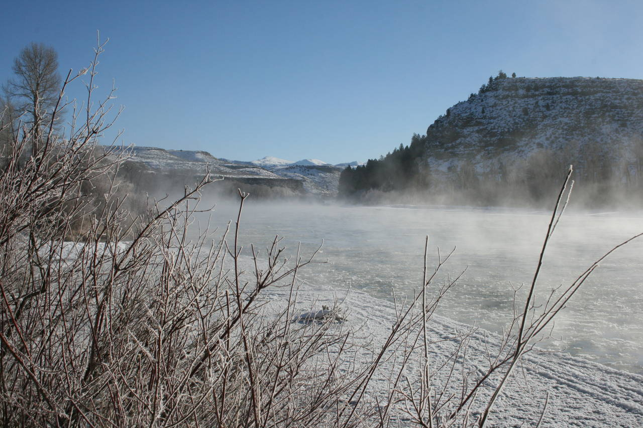 idaho river in winter