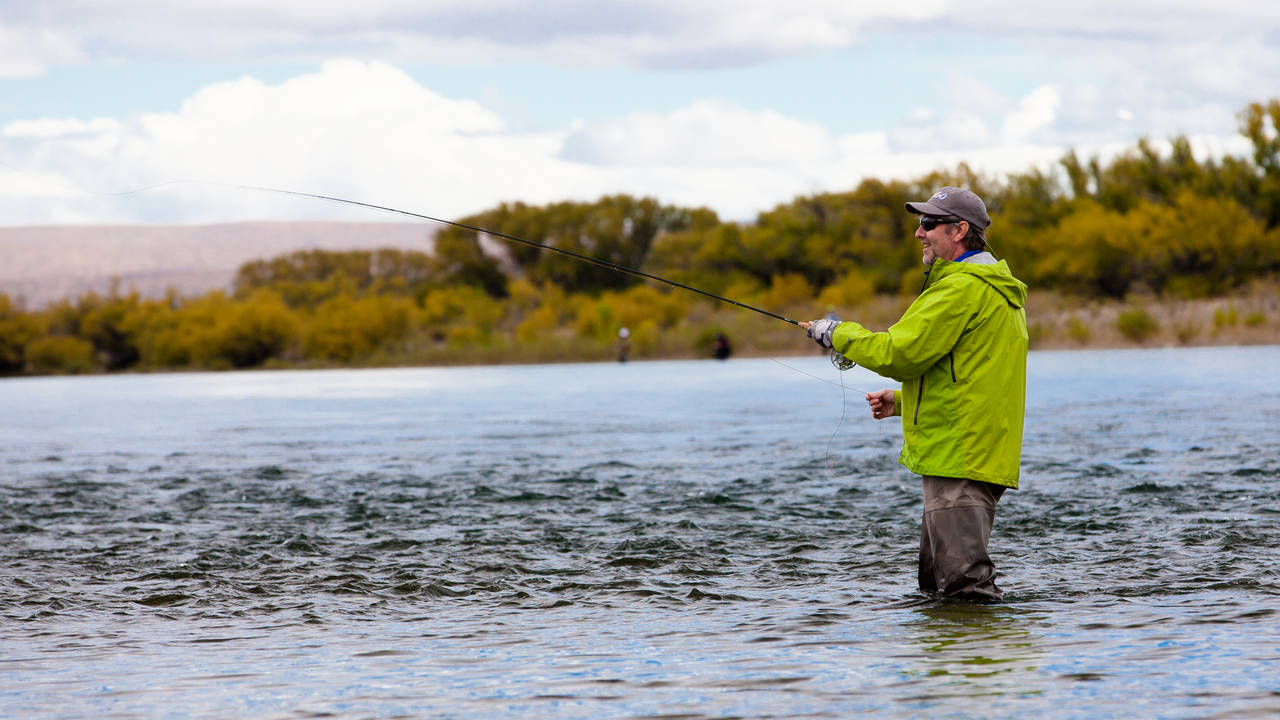 Limay River fly fishing