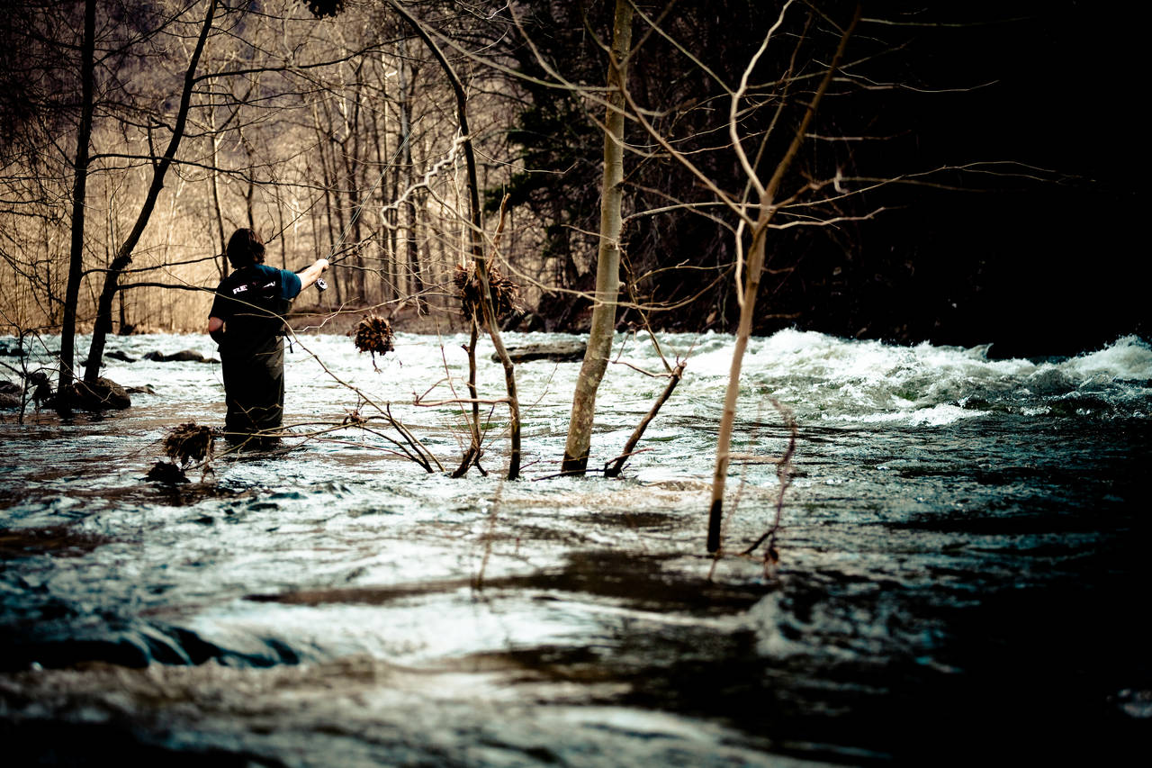 Fly Fishing in High Water