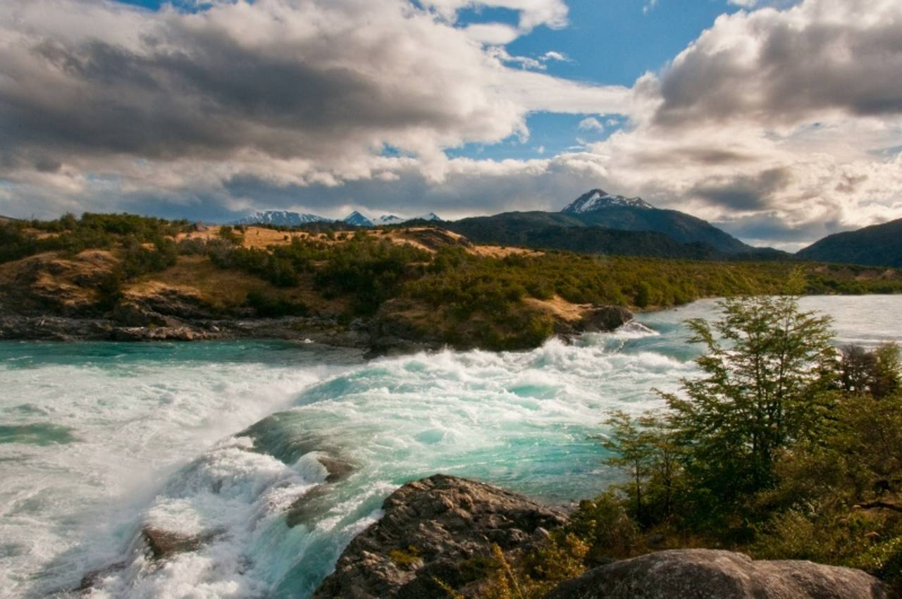 Confluence of Baker and Neff Rivers, Patagonia, Chile