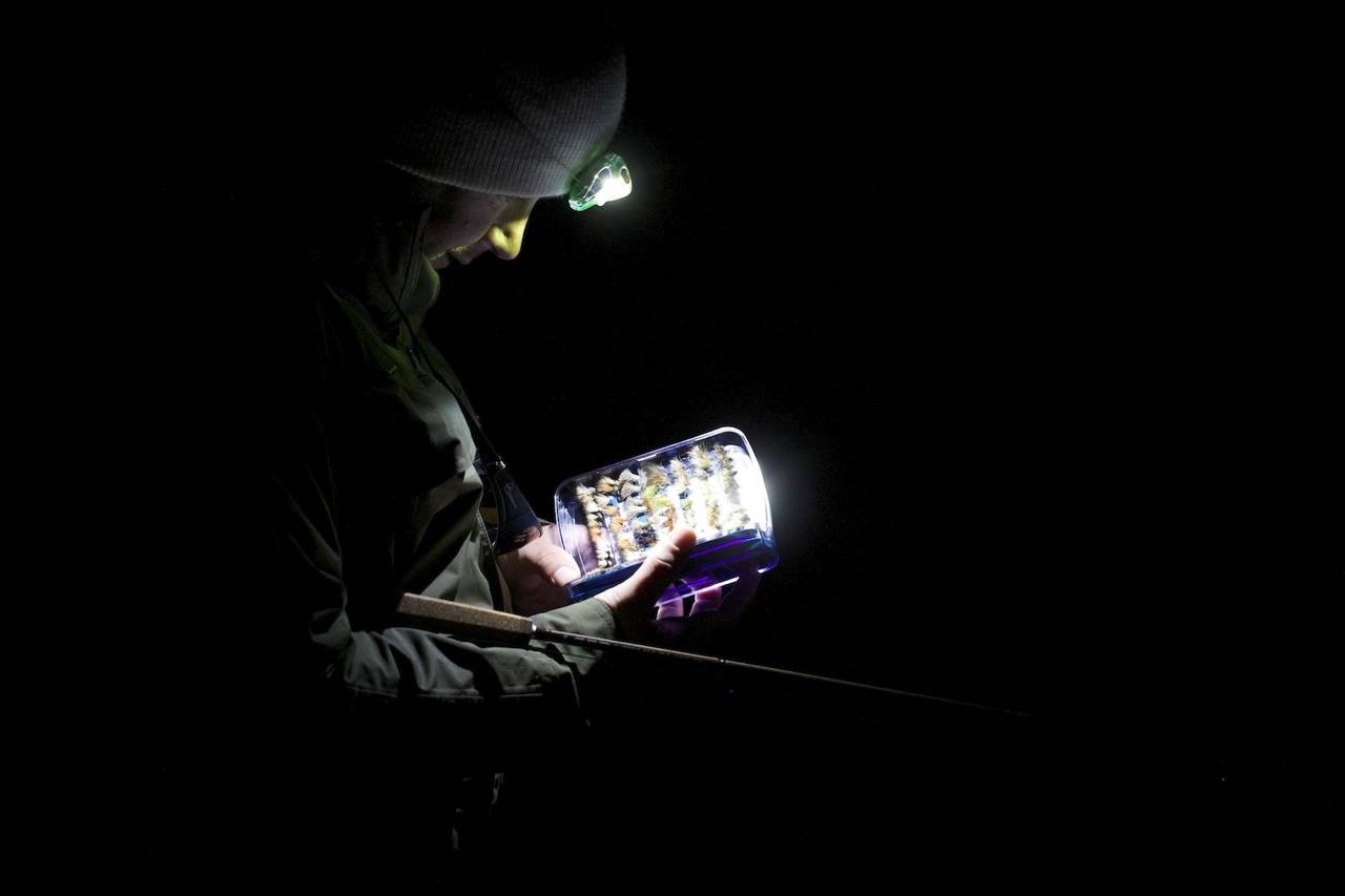 Night fishing choosing the right fly hatch magazine for Trout fishing at night