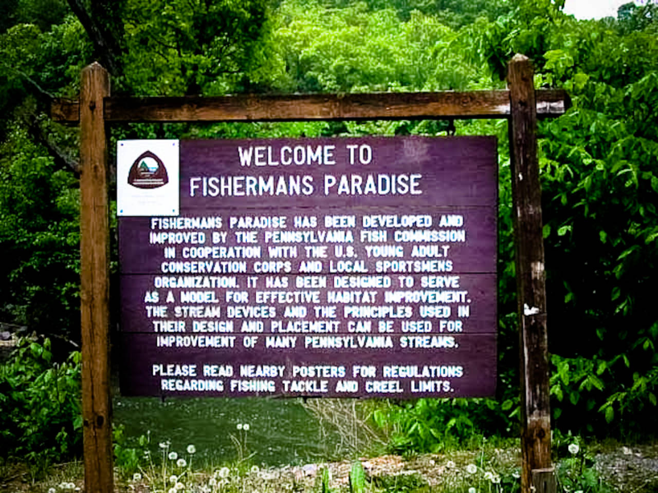 Fisherman's Paradise on Spring Creek in Pennsylvania
